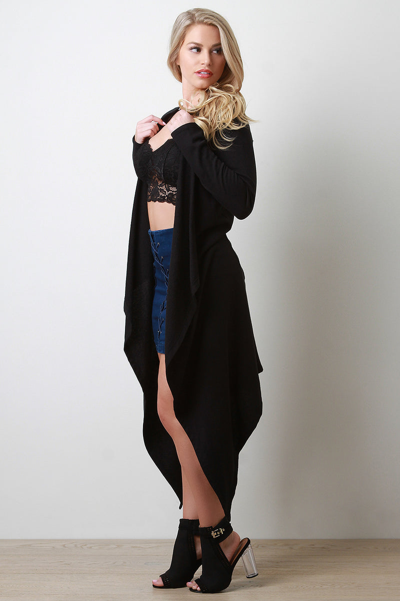 Terry Back Twist Waterfall Cardigan