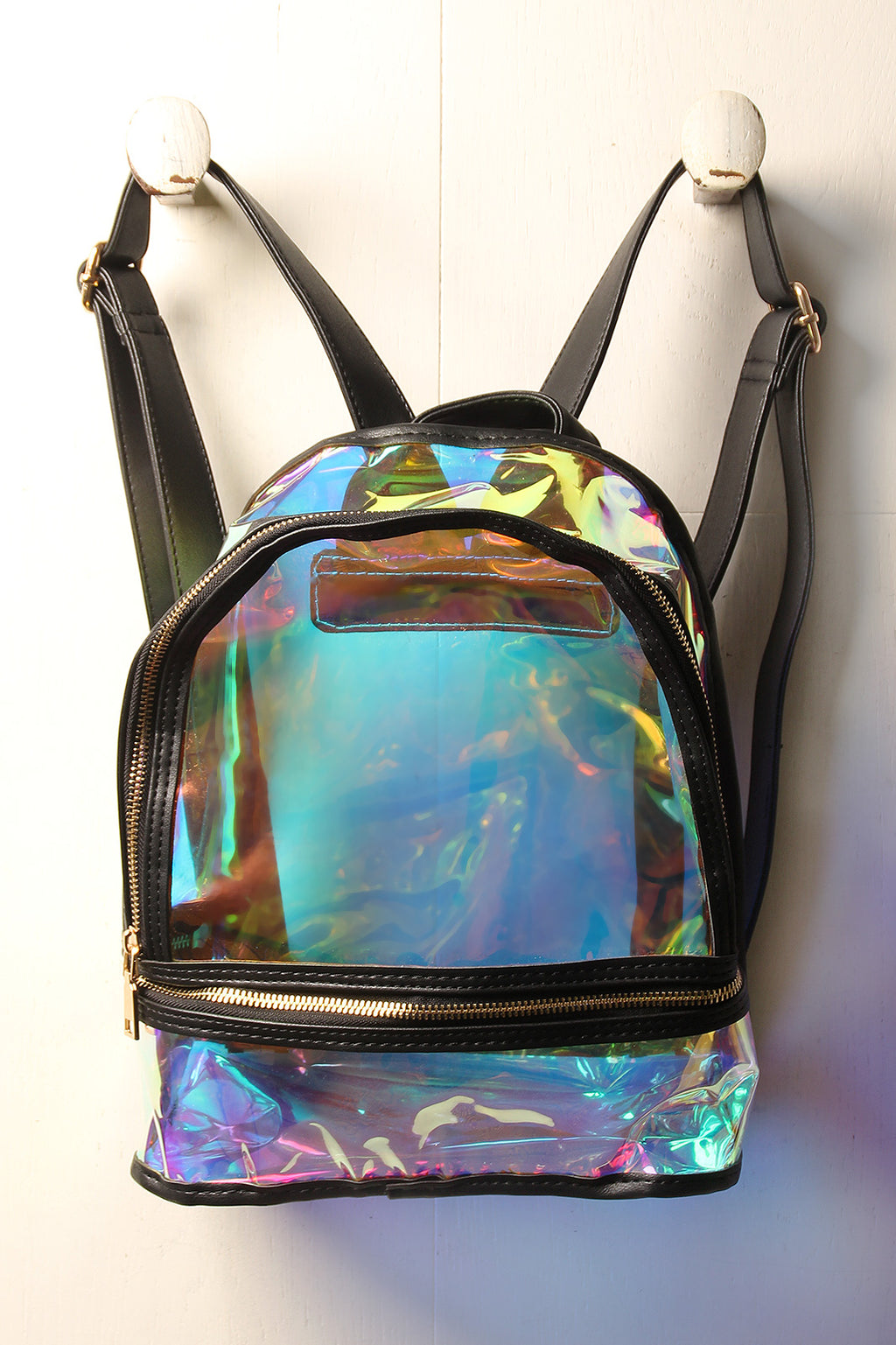 Iridescent Clear Backpack
