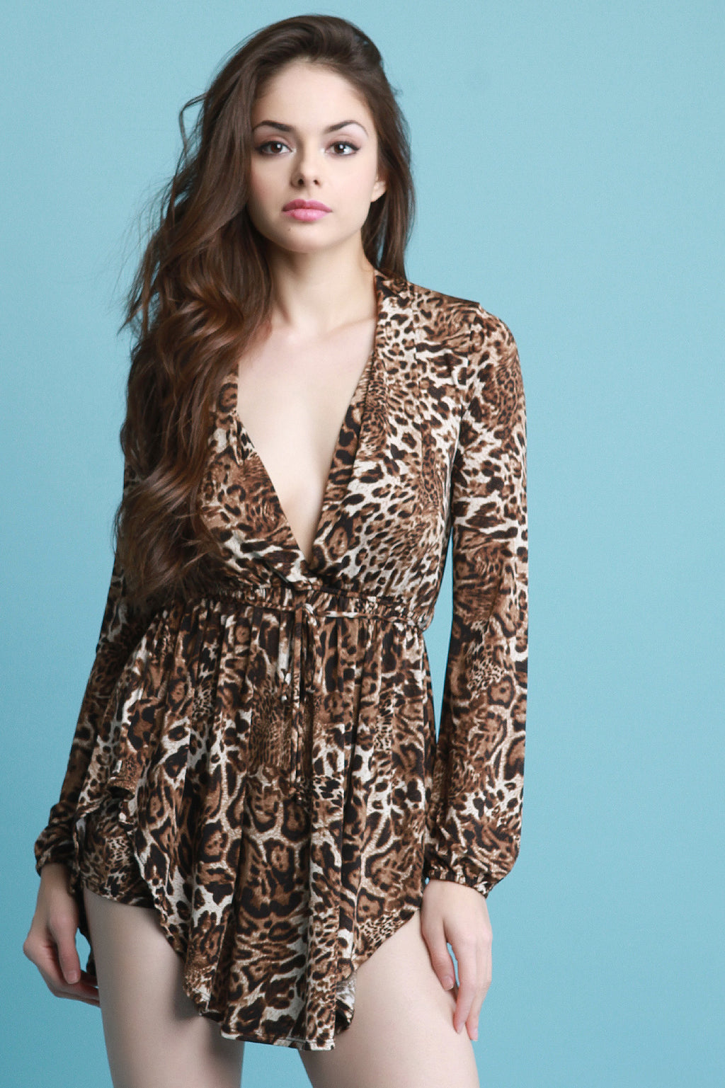 Leopard Print Shirt with Shorts Set