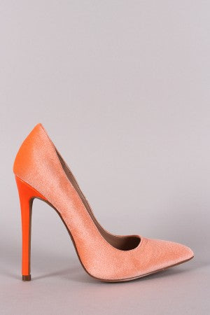 Shoe Republic LA Velvet Pointy Toe Stiletto Pump