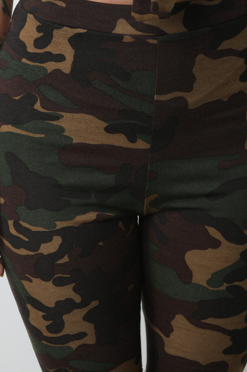 Camouflage Bandeau Top with Bermudas Set