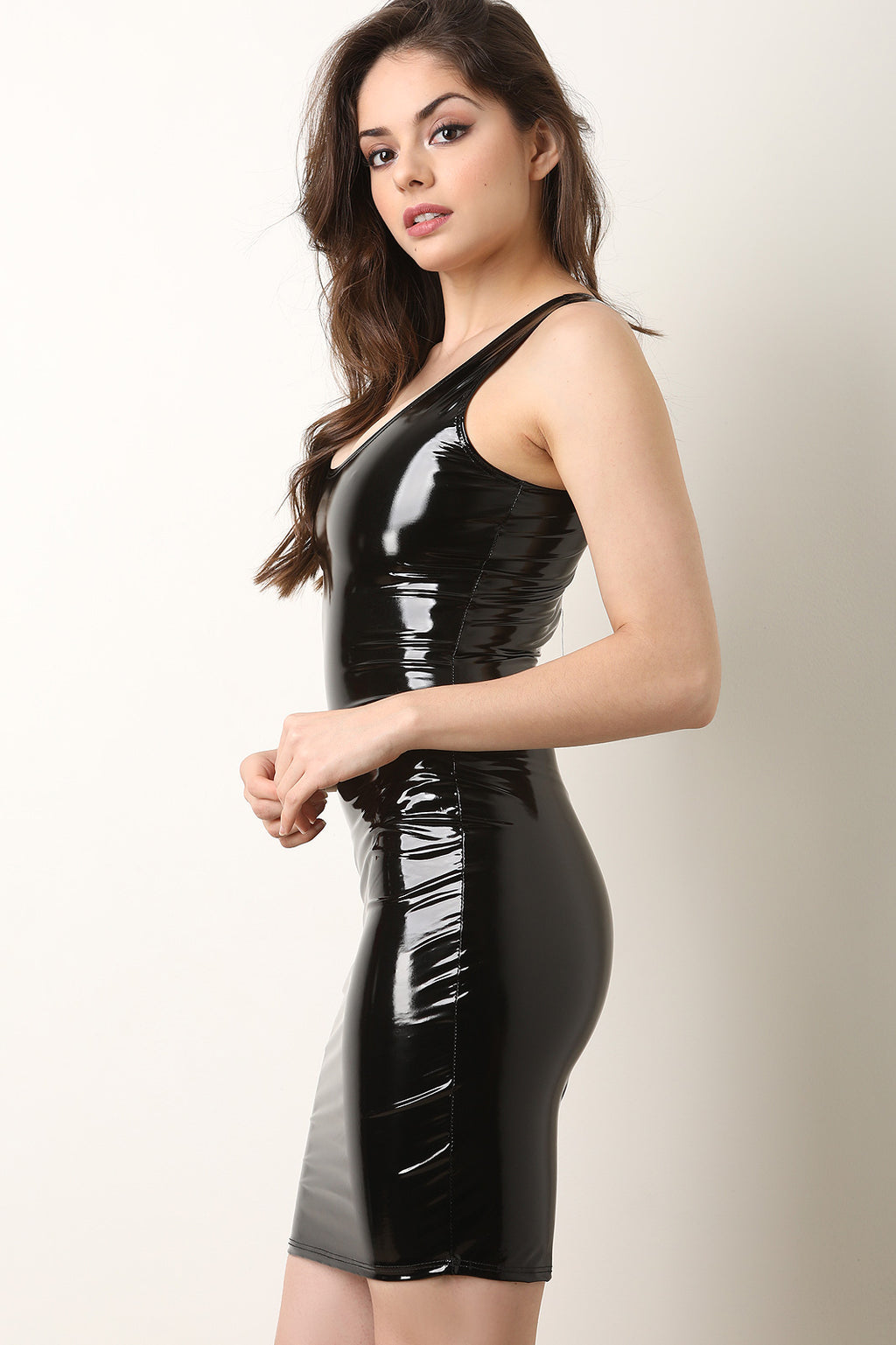 Patent Leather Bodycon Dress