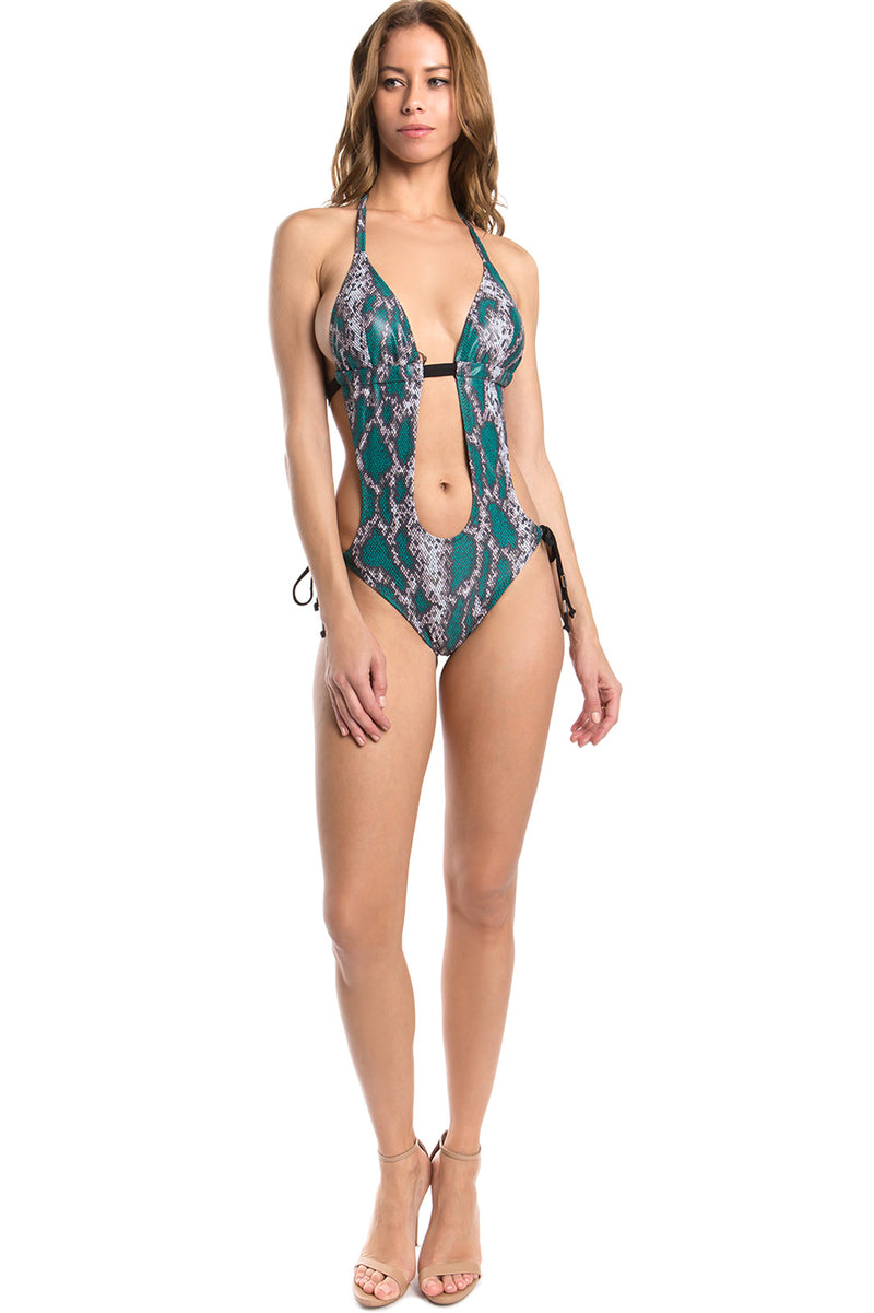 Monokini Halter Neck One Piece Swimsuit