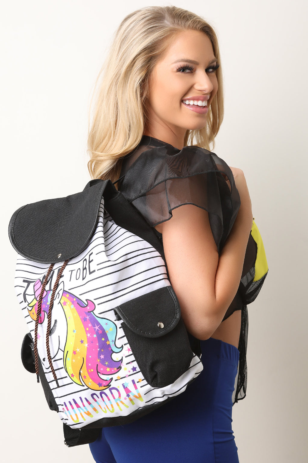 Striped Unicorn Backpack