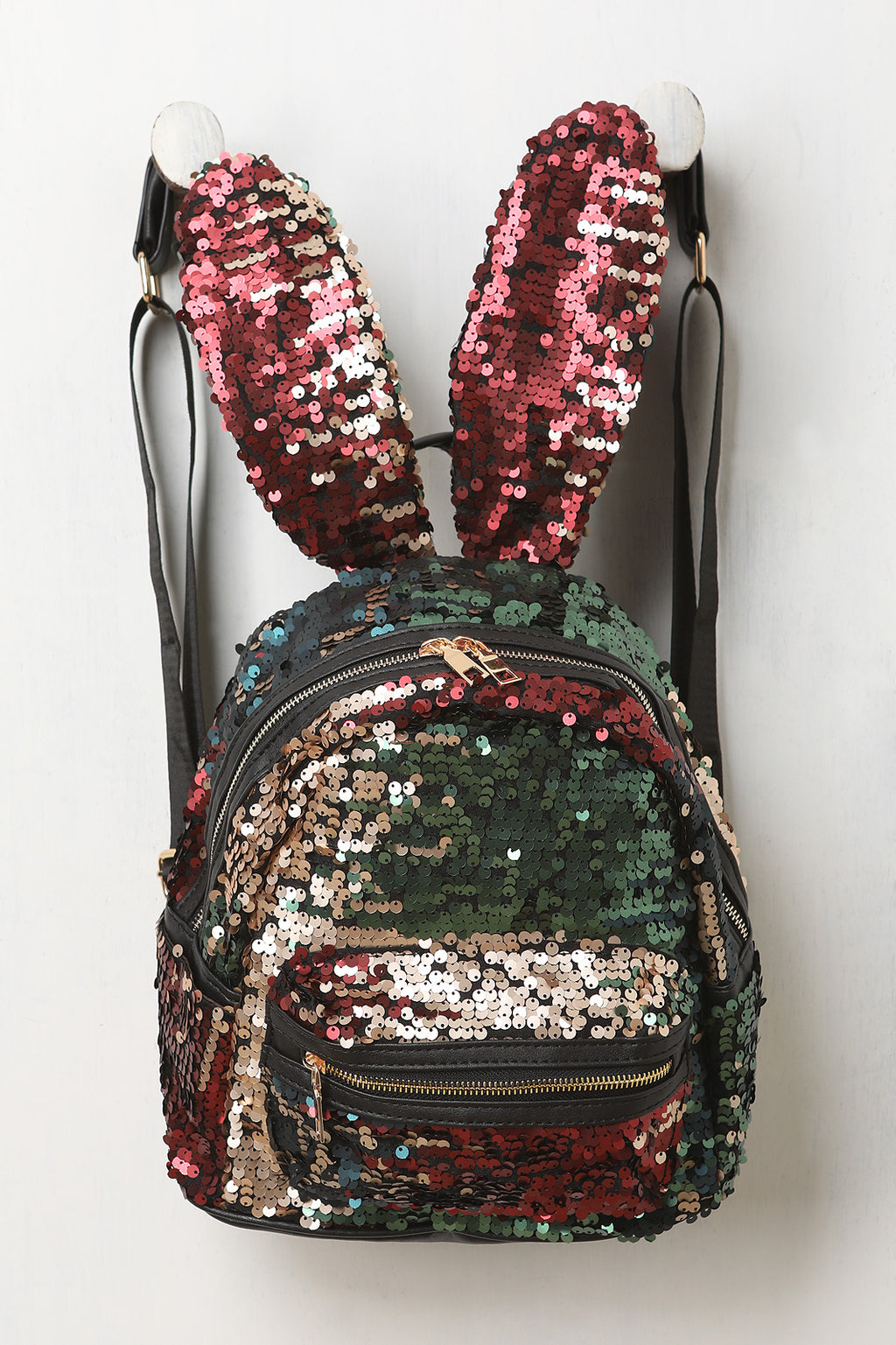 Sequins Bunny Ears Mini Backpack