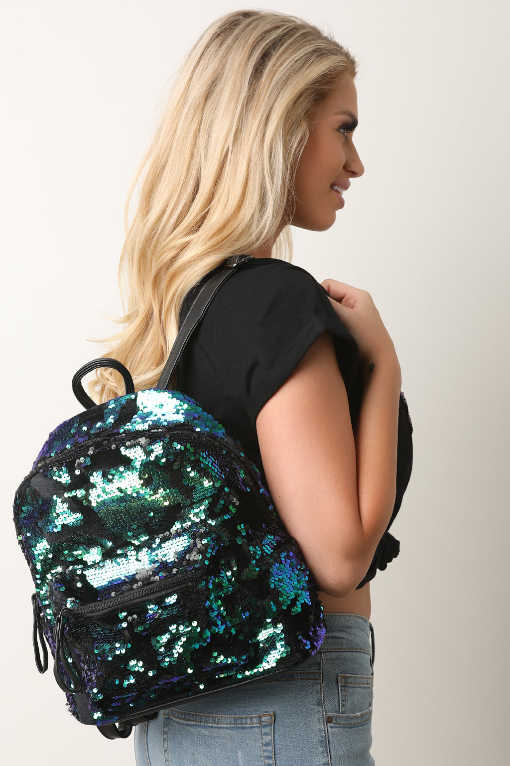 Sequins Velvet Mini Backpack