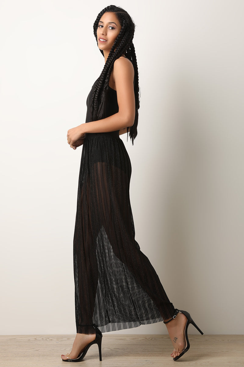 d1a085dadba Metallic Ribbed Mesh Bodysuit Maxi Dress – DirtySouthVintage.com