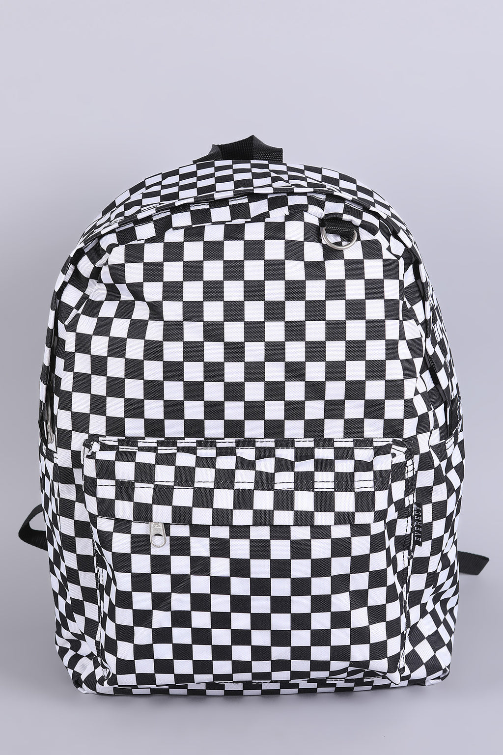 Checkered Print Backpack