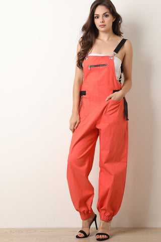 Printed Mesh Tube Jumpsuit