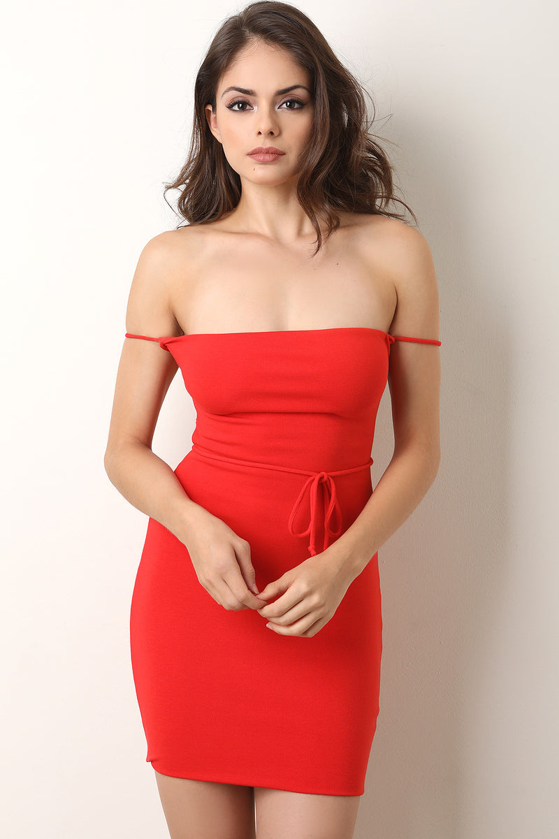 Strappy Crisscross Backless Bodycon Dress