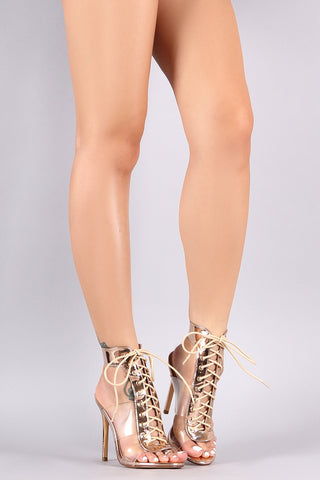 Liliana Pull-On Elasticized Ankle Strap Stiletto Heel