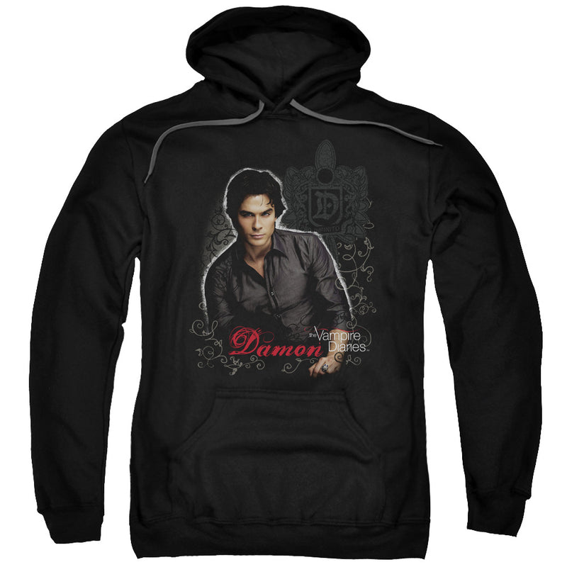 Vampire Diaries - Damon Adult Pull Over Hoodie