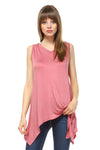 Women's Soft Elastic Waist Tank Top