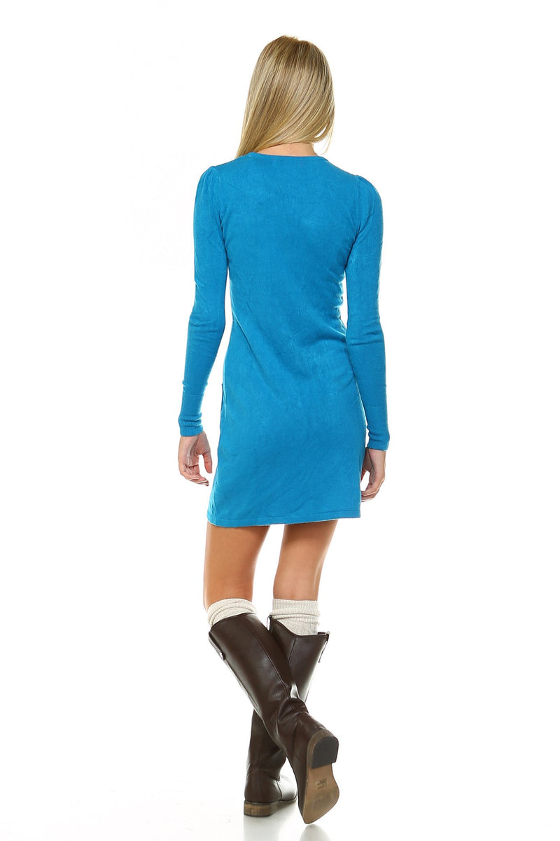 Women's Sweater Dress with Front Pockets