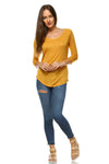 Women's Long Sleeve Round Neck Top
