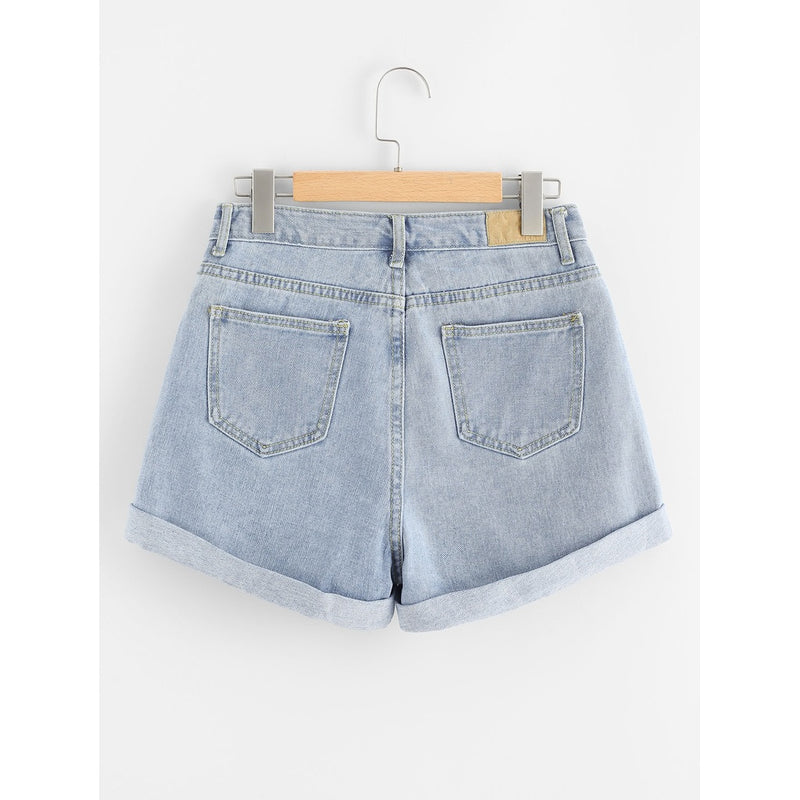 Rips Denim Shorts.