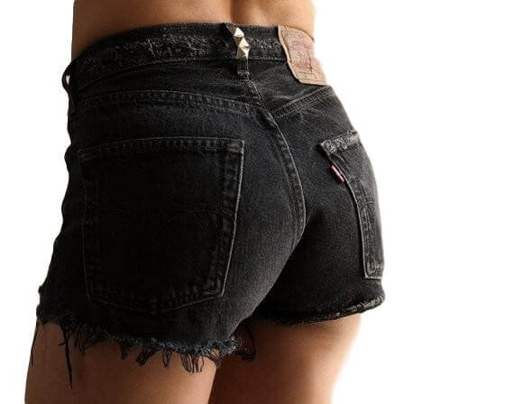 Black High Waisted Shorts / Sexy Denim Shorts For Summer: Pick Your Size