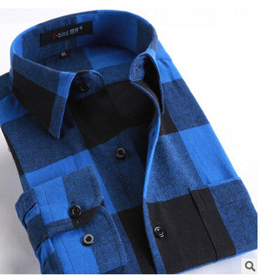 Blue Flannel Shirts For All Seasons!! All Sizes- For the Hipster in you!!