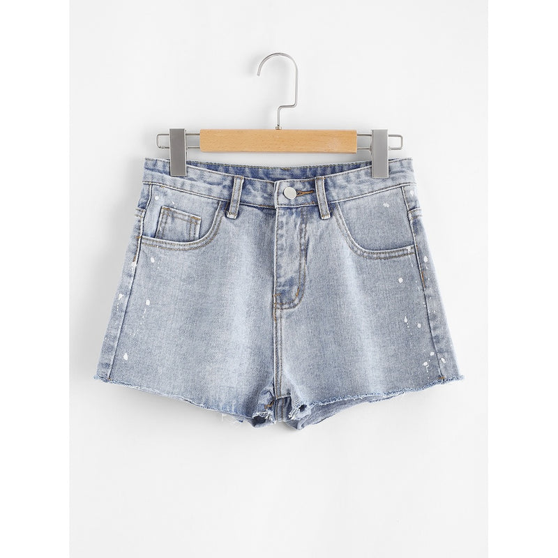 raw-hem-denim-shorts