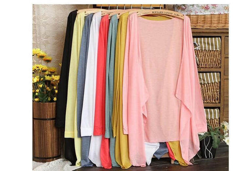 Very Thin Light Airy Cardigan, Spring/Summer Wear, All Colors & Sizes