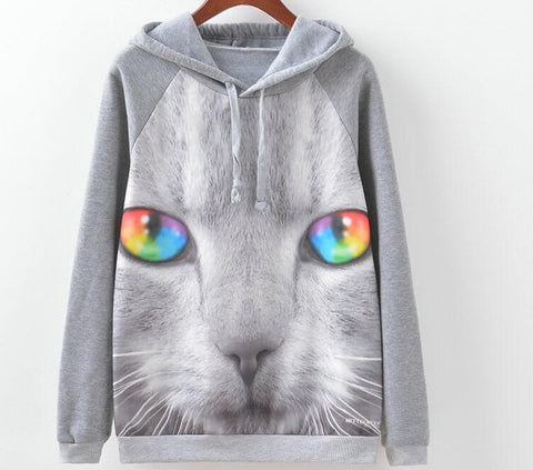 Kitty Hipster Sweatshirts, Pullovers, All Sizes
