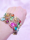 Ladies Womans Beautiful Flower Cuff Bangel Jewelry Bracelet