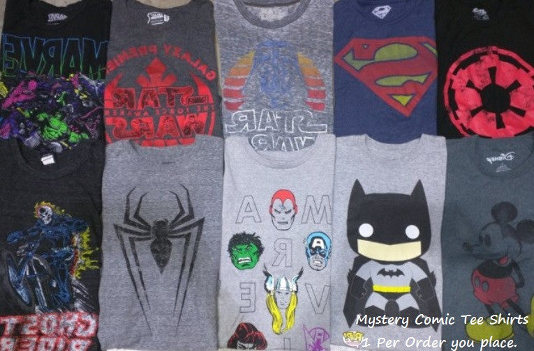 Mystery Comic Tee Shirts, All Sizes