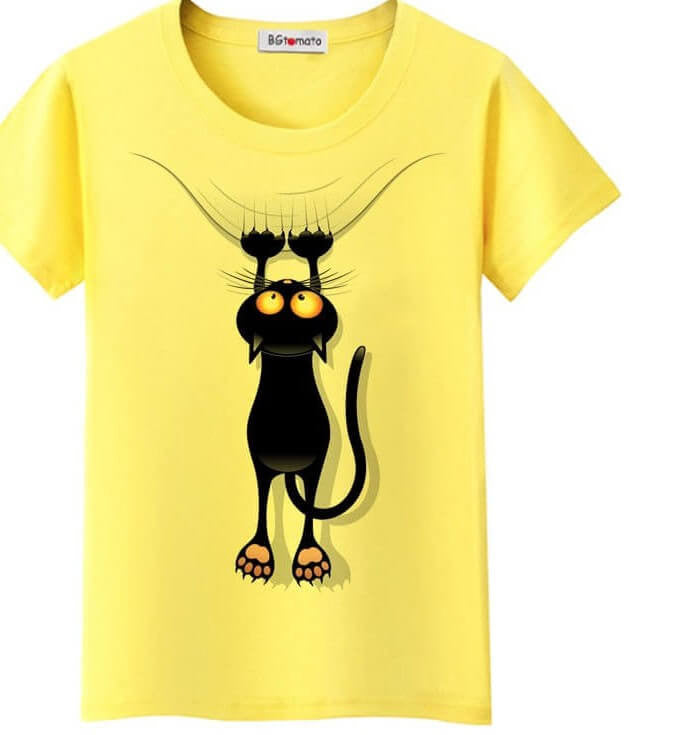 Cool Cat Graphic Tee Shirt, All Sizes & Colors
