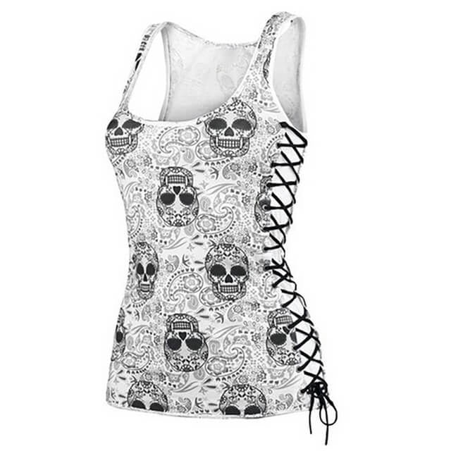 Skull Tanks tops and tee shirts