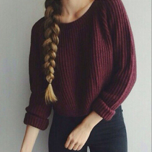 Awesome Red CropTop Sweater , Fun & Cute Sweaters, All Sizes