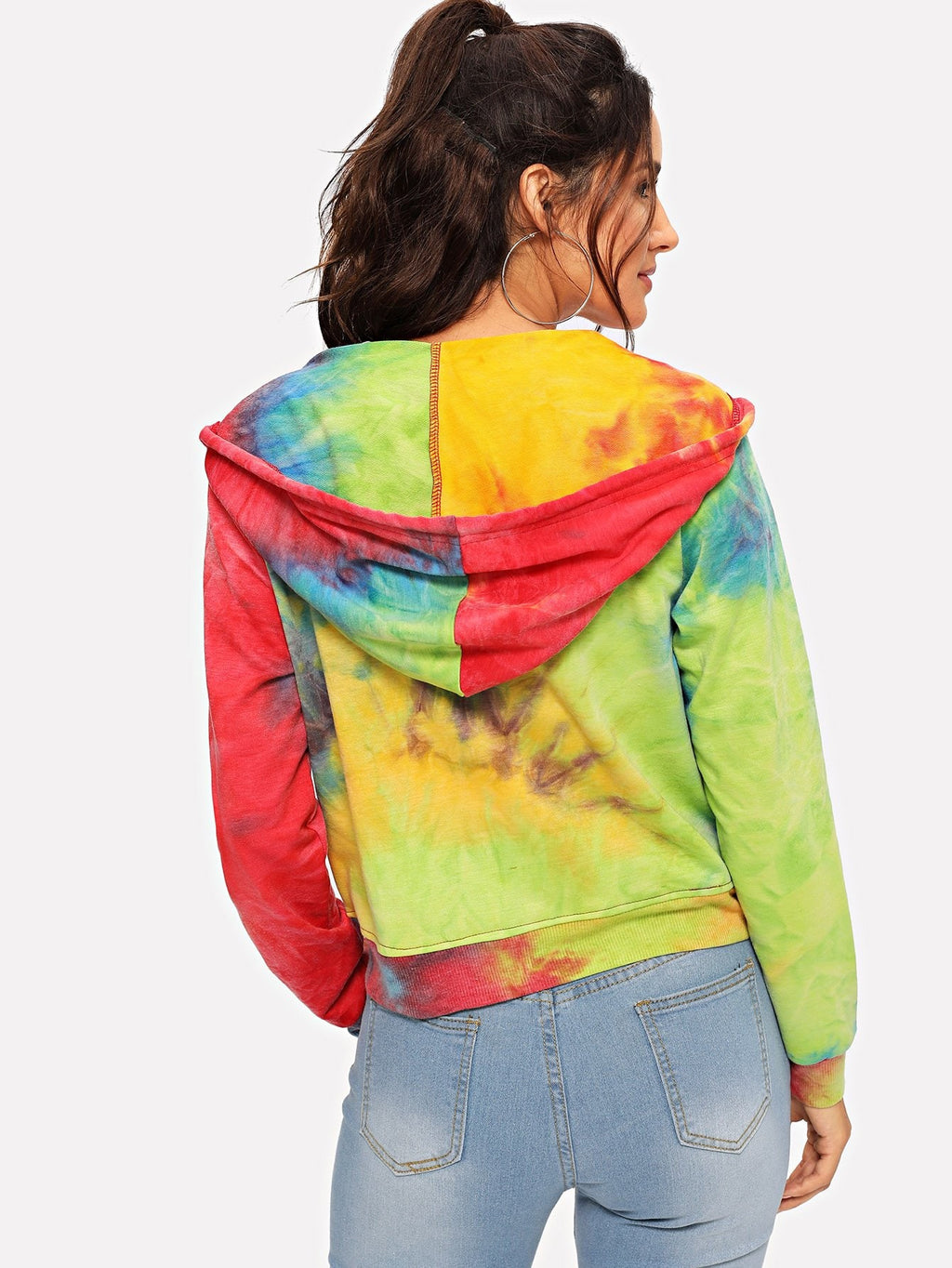 Tie Dye Hooded Jacket