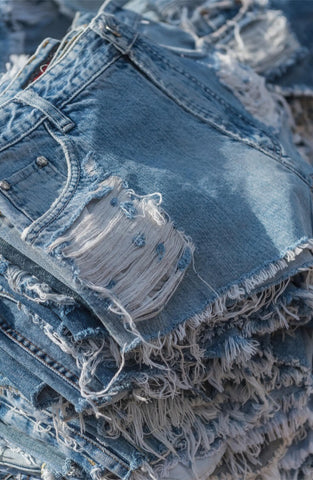 Denim shorts with stars detail