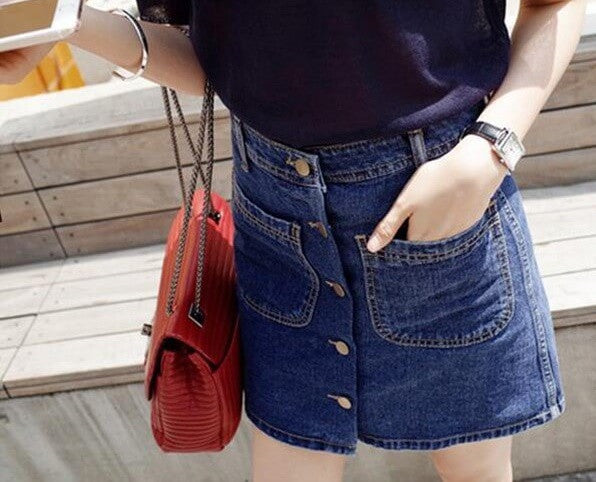 The Cute Girl Skirt, Denim Shirts, all Sizes
