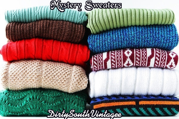 Mystery Hipster Sweaters!! All Sizes & Colors.