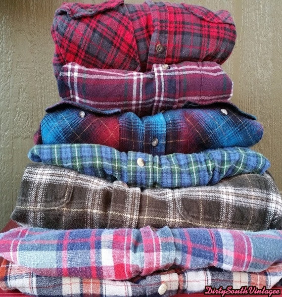 Mystery Vintage Flannels Shirts, All Colors & Sizes.