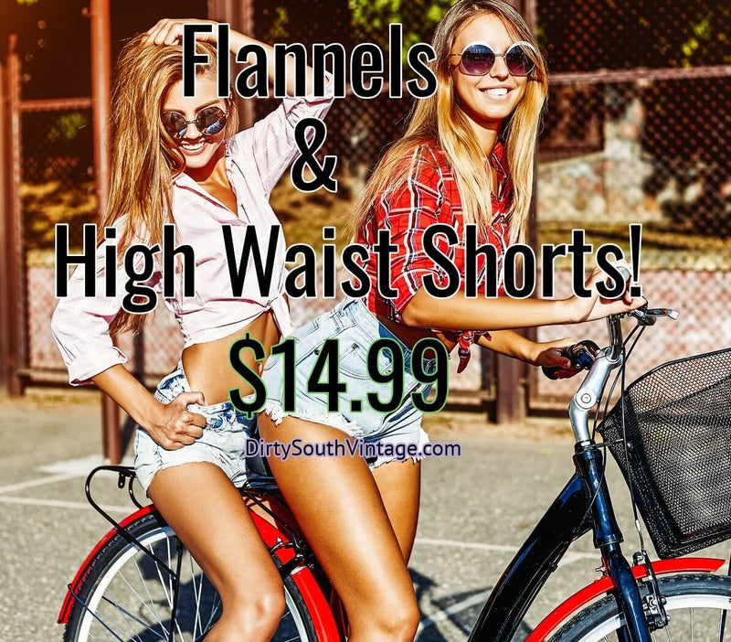Mystery High Waist Shorts Or Flannel.