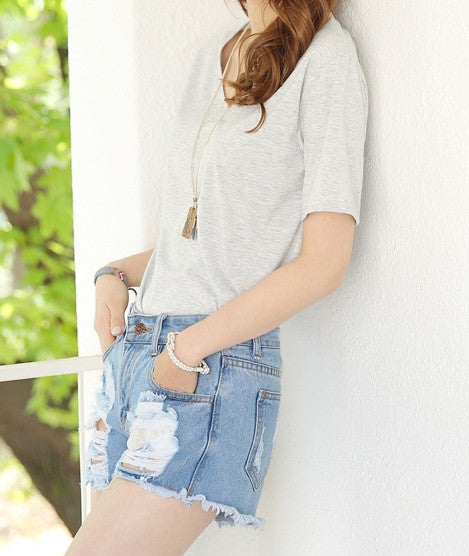 Summer High Waisted Denim Shorts, Distressed Hipster/Grunge Style, All Sizes!!