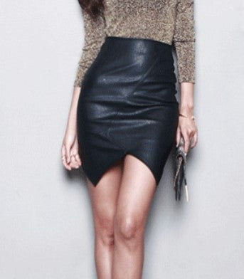 Vegan Leather Black Skirt Super Sexy, All Sizes