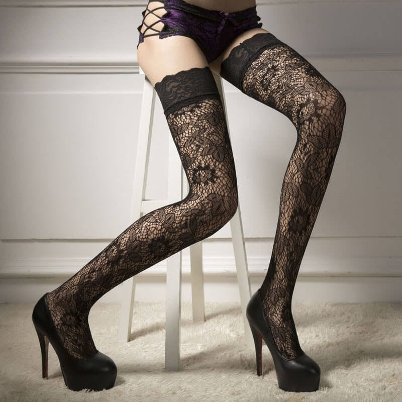 Sexy Black Stockings, Cool Look!