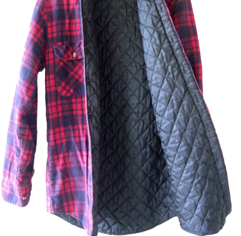 quilted flanel travail flannel hood quilt with vetements rustproof and shirt snaps en