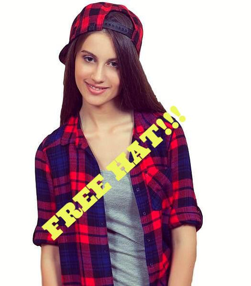 Flannel Plaid Style Hat ball Cap, Super Cool!