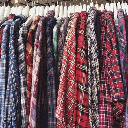 Warm unisex winter mystery flannel shirts all vintage for Types of flannel shirts