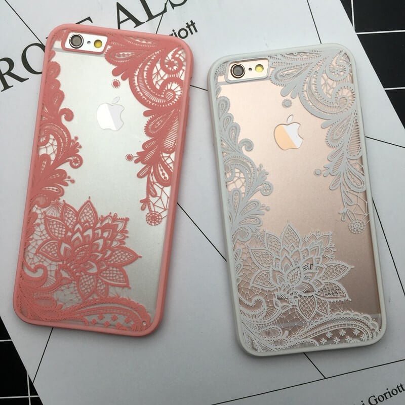 Apple IPhone Cell Phone Decorative Flower Cases, Super Cute