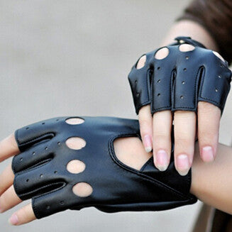 Black PU Sexy Thin Gloves, So Rocker!