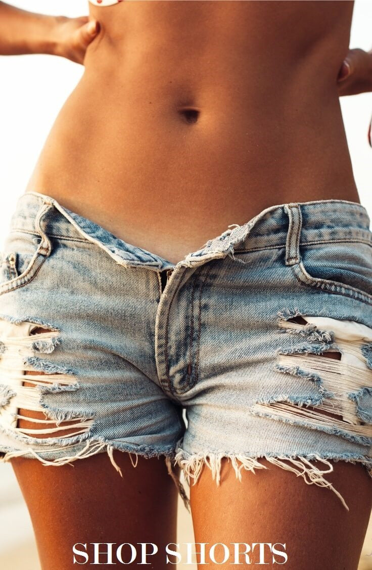 Denim High Waisted Shorts, Mystery Distressed Cutoffs, All Sizes & Washes