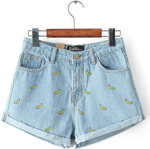 Bananas About High Waisted Shorts, All Sizes, Light & Dark Wash😊