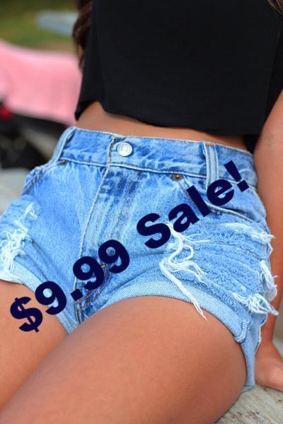 Size Large, XL & XXL High Waist Shorts Sale! Limited Stock!