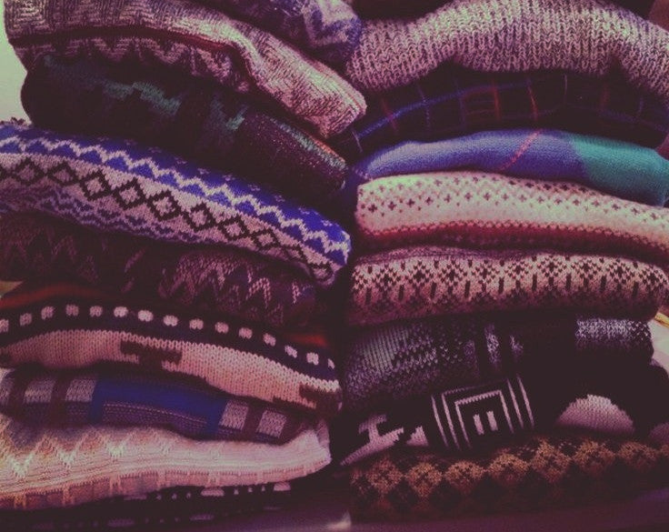 Over-sized Mystery Hipster Sweaters - BoHo Sweaters: All Hipster Colors - All Grunge Patterns.