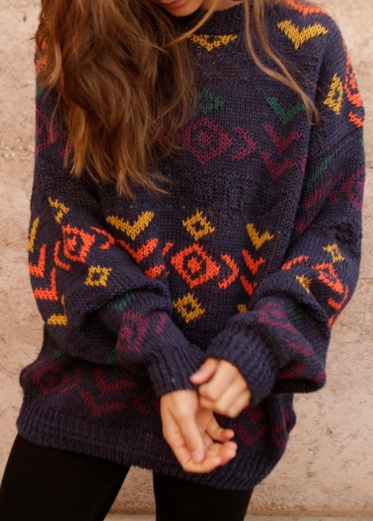 Pattern Over-sized Mystery Hipster Sweaters - BoHo Sweaters: All Hipster Colors - All Grunge Patterns.