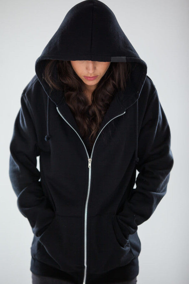 Unisex Zip up Pullover Hoodies, All Sizes & Colors